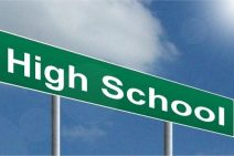 High School street sign